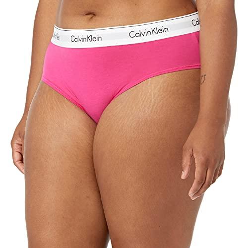 Calvin Klein Women's Plus Size Modern Cotton Bikini Panty, Party Pink, 1X