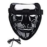 Máscara de purga RUNACC para disfraz de Halloween con luces LED que brillan de miedo para Halloween Festival Fiesta Carnaval Disfraz de Navidad Cosplay