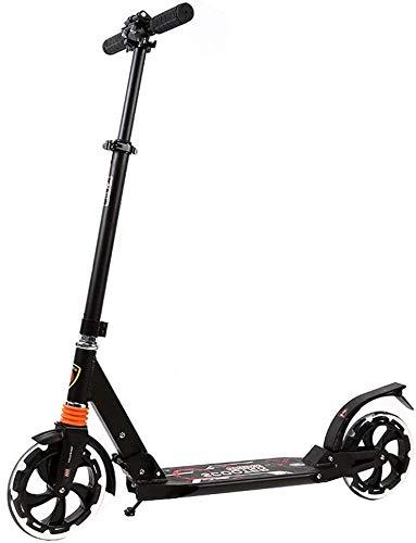FQCD Scooter Sicherheit Faltbare Einstellbare |Teen Tretroller |Pendler-Roller, Scooter Stadt for Alter 8 bis...