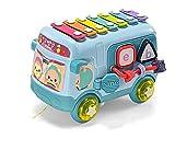 JUNMIN Coche para niños Juguete Educativo Ocho Tono Mano Golpe en Piano bebé Rompecabezas Combo Instrumento Musical mecánico Percussion Piano se Puede Jugar (Azul)