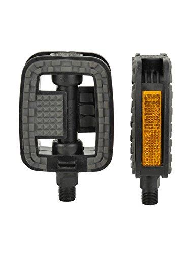 FISCHER Pedale mit Anti-Rutsch und Reflektoren, passend für alle Fahrradttypen, Schwarz