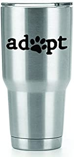Adopt a Pet Vinyl Decals Stickers (2 Pack!!!) | Yeti Tumbler Cup Ozark Trail RTIC Orca | Decals Only! Cup not Included! | ...