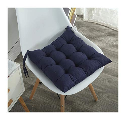 Seat Cushion Candy-colored Chair Seat Cushions, Portable Square Sofa Pillows For Office Chairs And Outdoor Backpacks (Color : Navy, Specification : About 38x38cm)