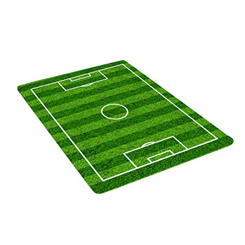 LIOOBO Felpudo exterior cubierto con campo de fútbol mini alfombra porta dibujos animados entrada de franela alfombra alfombra zona alfombra para salón dormitorio baño cocina