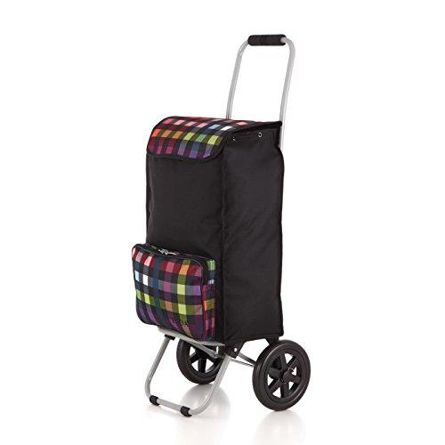 Rada Einkaufstrolley ER/1 40 Liter, robuster Marktroller, Einkaufswagen, Handwagen, mit 2 Rollen, wasserabweisender Transportwagen mit großen Rädern, (Multicolor Check)