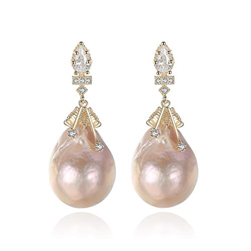 MAYL Unique S925 silver baroque shaped pearl earrings (2021 New)
