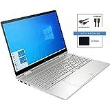 "Newest HP Envy X360 2-in-1 15.6"" FHD Widescreen LED Touch-Screen Laptop Bundle Woov Accessory   Intel Quad Core i5-1035G1   8GB DDR4 RAM   256GB SSD   Backlit Keyboard   Fingerprint   Windows 10 Home"