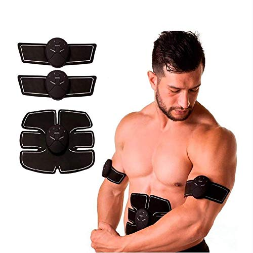 YAUUYA Abs Trainer Fitness Trainingsapparaat EMS spierstimulator ultieme buikstimulator draagbare spiertoner palen-buikspieren fitnessapparaten voor mannen vrouwen