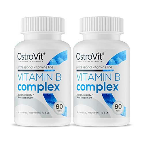 OSTROVIT Vitamin B Complex | Cabello Saludable Piel Uñas | Aumentar la energía | Mejorar el metabolismo (180 tabletas)