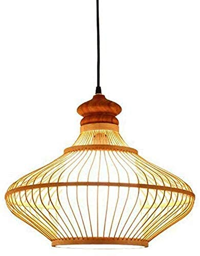 Sudeste asiático Tropical DIY Mimbre Rattan Lámpara de techo Nordic Simple Linterna Candelabro Lámpara colgante Hotel Casa de té Comedor Tejido de bambú Pantalla Lámpara colgante E27 Altura ajustable