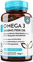 Omega-3 ren fiskolja 2 000 mg – 660 mg EPA & 440 mg DHA per daglig portion – 240 mjuka gelkapslar – 4 månaders...