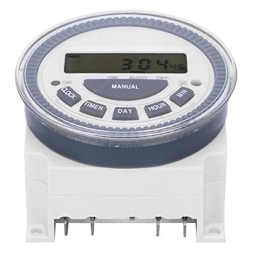 Jeanoko Interruptor Temporizador ABS TM619H-2 Indicador de Estado de Encendido/Apagado LED Estable Digital DC12V Electrónico para Industria