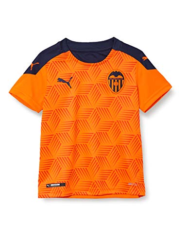 PUMA VCF Away Shirt Replica Jr Camiseta, Unisex niños, Vibrant Orange-Peacoat, 152
