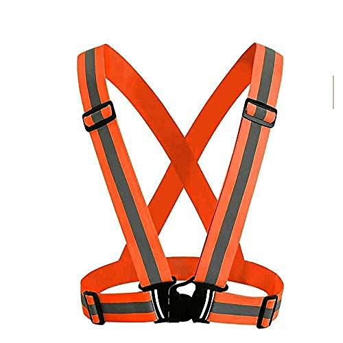 ZSDFGH Klettergurt Sicherheit Reflektierende Weste Moto Gürtel Motorrad Körper Sicherheitsgurt Laufen Radfahren Fahrrad Klettern Outdoor-Sportbekleidung Weste Orange