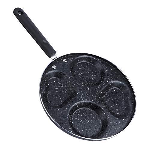 Pppby 4 agujeros cocina desayuno tortilla sartén freír en forma de corazón multifunción olla huevo tortilla sartén antiadherente panqueque bistec cocina desayuno fabricante