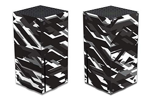 AGA Gaming Skin für Xbox Series X, Design Folie Aufkleber Sticker Schutzfolie, Kompatibles Zubehör für ihre Microsoft Spielekonsole (Series X, Camouflage/Weiß)