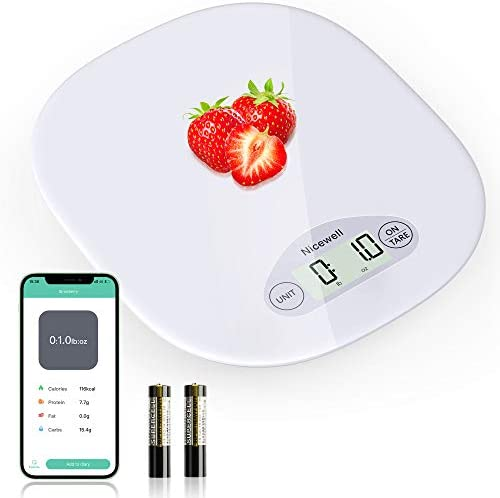 Nicewell Digital Food Scale Kitchen Scale for Baking Cooking and Coffee Scale with Nutritional product image