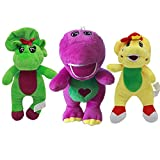 Dirgee 3 pcs 30cm Cute Green Yellow Barney Dinosaur Barney and Friends Plush Toys Soft Cartoon Stuffed Animals Kids Dolls Children Gifts