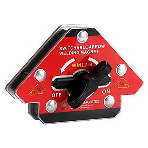 Esquina de soldadura magnética Posicionador de ángulo conmutable Uno-clave Localizador de desmagnetización S soldador