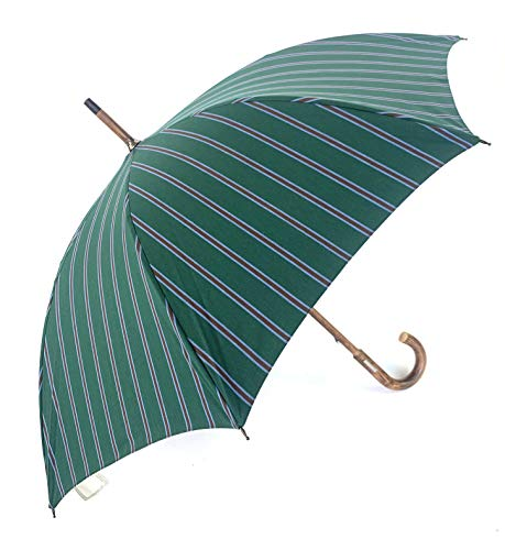 Nicola Trussardi paraplu, lang, handmatig, mat, Engels, gemaakt in Italië