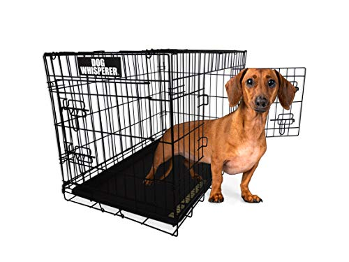ASPCA Dog Whisperer Metal Pet Crate Kennel with Removable Tray for Small Dogs