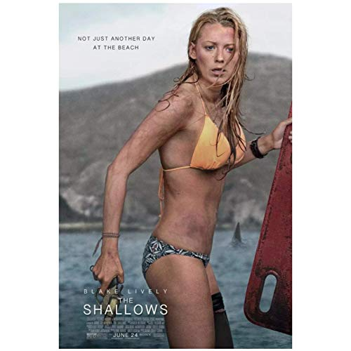 UNFIX The Shallows Movie Blake Lively Poster and Prints Wall Art Canvas Painting Wall Decorations Pictures Home Decor -20x28 Inch No Frame 1 PCS