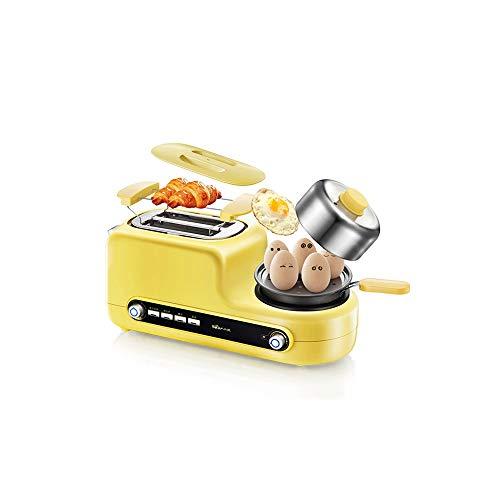 LKNJLL Acero Inoxidable multifunción Tostadora eléctrica del hogar portátil Desayuno Máquina automática panificadora Fabricante de Huevos fritos Caldera sartén