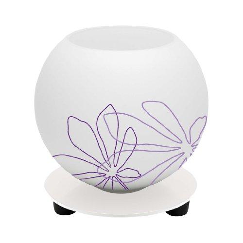 Brilliant 01947/78 Lampe à Poser d'ambiance Pop Imprimé Floral 40 W E14 Violet