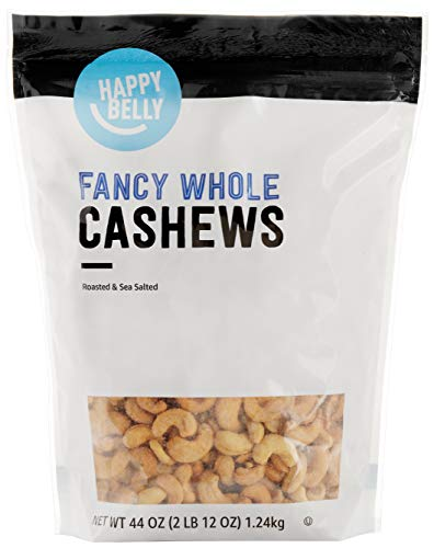 Amazon Brand  Happy Belly Fancy Whole Cashews 44 Ounce