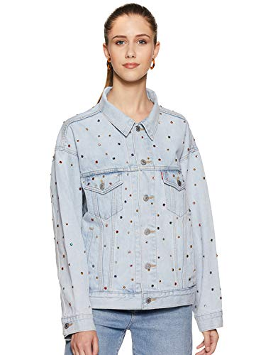 Levi's Women's Jacket (79697-0001_Blue_S)