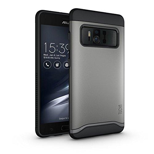 TUDIA Asus ZenFone AR Hülle, Slim-Fit Merge Dual Layer Schutzhülle für Asus ZenFone AR (ZS571KL) (Metallic Slate)