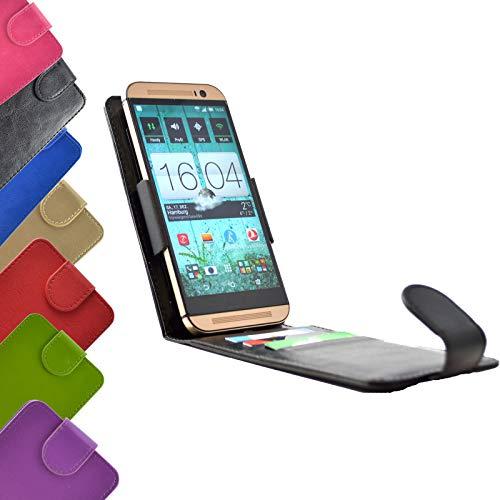 ikracase Flip Tasche für Gigaset GS180 Smartphone Hülle Slide Cover Hülle Handytasche Handyhülle Schutzhülle in Schwarz