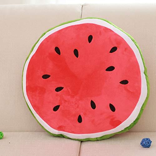 ZHONGBIAOBIAO Almohada Creativa De Sandía,La Fruta Descansa sobre La Almohada,La Felpa Se Espesa Cojín De Asiento-B 30cm