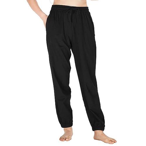 4881bd9612 WEWINK CUKOO Womens 100% Cotton Pyjama Bottoms Full Length Straight Leg  Lounge Pants Loungewear Ladies