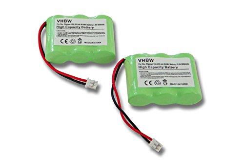 vhbw 2X Akku 600mAh (3.6V) für schnurlos Festnetz Handy Siemens Gigaset 100, 200, A1, A100, T11 wie C39453-Z5-C193, HSC22, u.a.