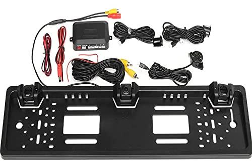 Porta targa con telecamera posteriore e 2 sensori di parcheggio per auto