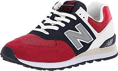 New Balance Men's 574 V2 Pebbled Sport Sneaker, Team Red/Pigment, 9.5 M US