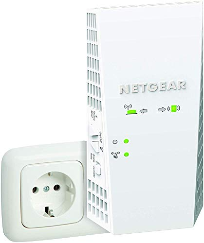 Netgear Mesh WLAN Repeater EX6250WLAN Verstaerker & Super-Boost WiFi (AC1750 Dual Band, Abdeckung 2 bis 3 Räume & 25 Geräte, bis zu 1750 MBit/s Geschwindigkeit, smartes Mesh WLAN-Roaming)