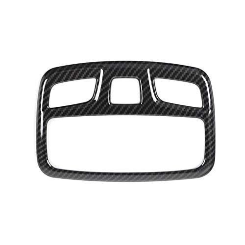 Piezas Automóviles para Suzuki para Jimny 2019+ Coche Lámpara De Lectura Pegatinas Luz Etiquetas Decorativas Calcomanías Coche Techo Interior Styling Decoración (Color : Fibra de Carbon)