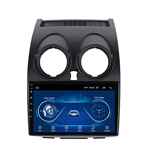 Android Radio Coche Bluetooth para Nissan Qashqai 2006-2013 con Navegación GPS, Pantalla TáCtil de 9 Pulgadas Autoradio Soporte Manos Libres/Radio FM/Enlace Espejo/WiFi,1+16g