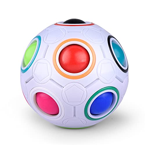 Bola arcoíris, bola mágica, juego de habilidad, bola mágica, bola mágica, juguete rompecabezas 3D, juguete emocionante para niñas y niños