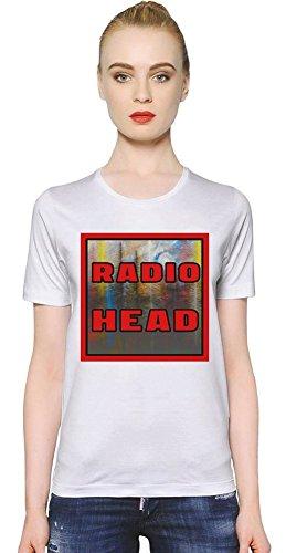 Radiohead Colorful Logo Frauen-T-Shirt Women T-Shirt Girl Ladies Stylish Fashion Fit Custom Apparel By Genuine Fan Merchandise Medium