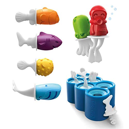 DFKDGL Ensemble de moules de Popsicle de Cuisine, Ice Cube Moule Boule Moule Sphère Silicone Ice Rounds Maker, Popsicle Maker, Ice Tray Molds, 6 Popsicle Molds Set