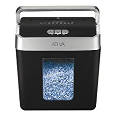 Whether you want to clean up clutter on your desk or need to prevent private information from being read, a shredder is a great choice. This 8-sheet micro-cut lift-off shredder features a bin with a lift-off lid and handle, so it is easy to access an...