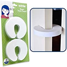 Wittle Finger Pinch Guard - 2pk. Child Proofing Doors Made Easy with Soft Yet Durable Foam Door Stopper. Prevents Finger Pinch Injuries, Slamming Doors, and Baby or Pet from Getting Locked in Room