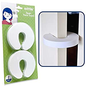 Wittle Finger Pinch Guard – 2pk. Child Proofing Doors Made Easy with Soft Yet Durable Foam Door Stopper. Prevents Finger Pinch Injuries, Slamming Doors, and Baby or Pet from Getting Locked in Room