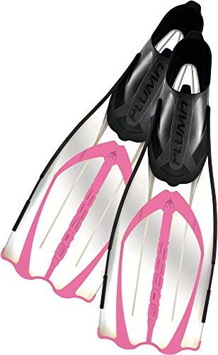 Cressi Pluma / Pluma Bag - Premium Flossen Set, Transparent/Rosa, 37/38