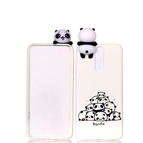 HUDDU Huawei Mate 10 Lite Weiß Hülle Huawei Mate 10 Lite Handyhülle Transparent TPU Cover Silikon Weihnachten Schutzhülle Ultra Dünn Bumper Protective Case 3D Karikatur Muster Christmas - Pandas