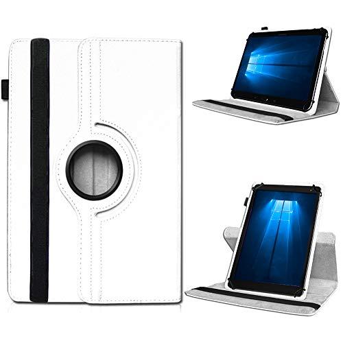UC-Express Odys Connect 7 Pro Tasche Tablet Hülle Cover Case Schutzhülle 360° Drehbar Etui, Farben:Weiß