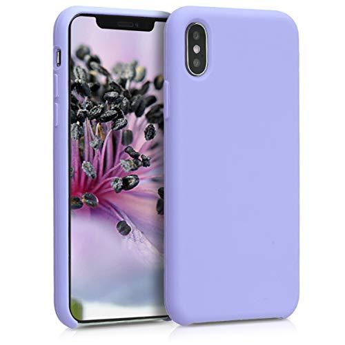 kwmobile Funda Compatible con Apple iPhone XS - Carcasa de TPU para móvil - Cover Trasero en Lavanda Pastel